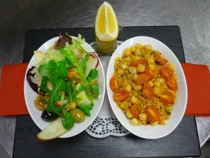 Veganes Curry-Gemüse Couscous