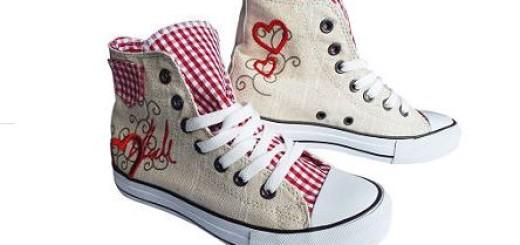 Lederfreie Trachten-Sneakers