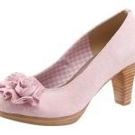 Trachtenpumps rosa lederfrei
