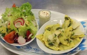 Vegetarische Spinat- Ricotta- Maultascherl (c) Paulaner am Nockherberg