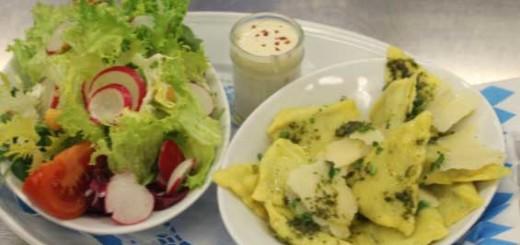 Vegetarische Spinat- Ricotta- Maultascherl